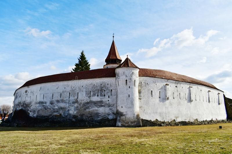 Lutheran fortified church in Prejmer, Transylvania, Romania royalty free stock image