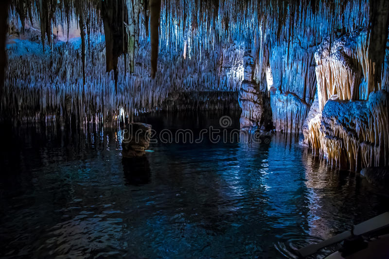 Download The Largest Lagoon In Drach Caves Stock Image - Image of forms, coves: 68789733