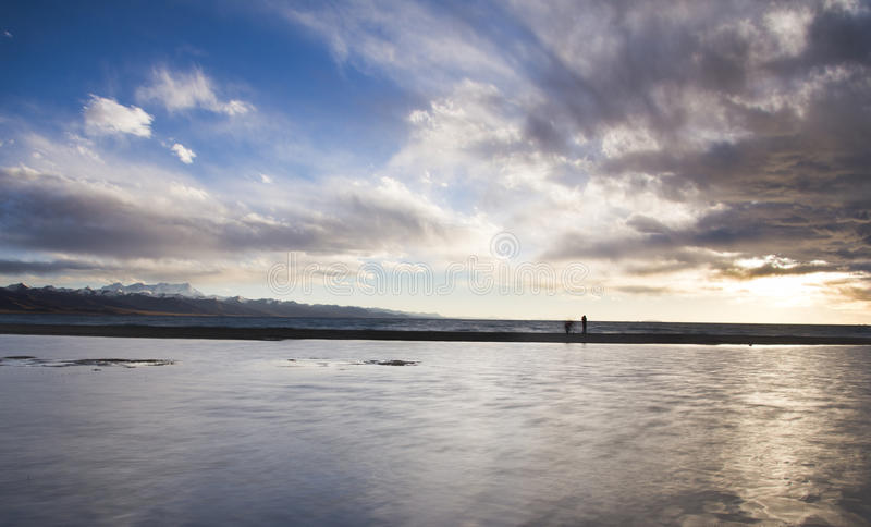 The largest lake in Tibet royalty free stock photography