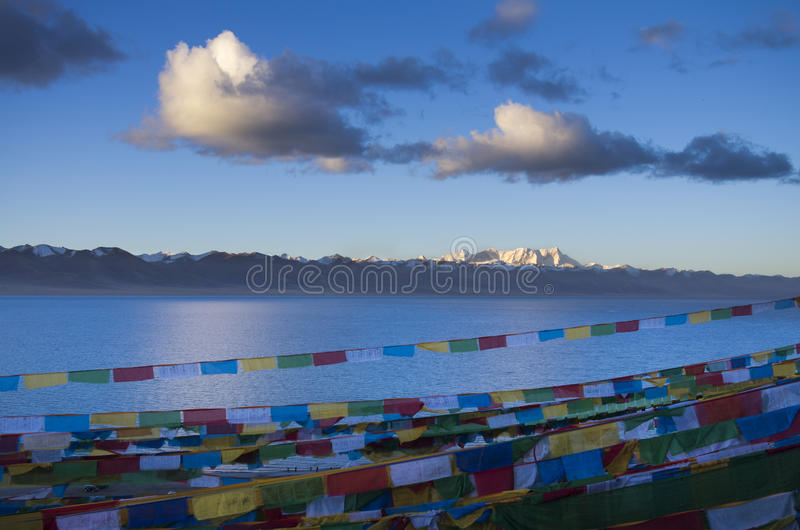 The largest lake in Tibet stock photos