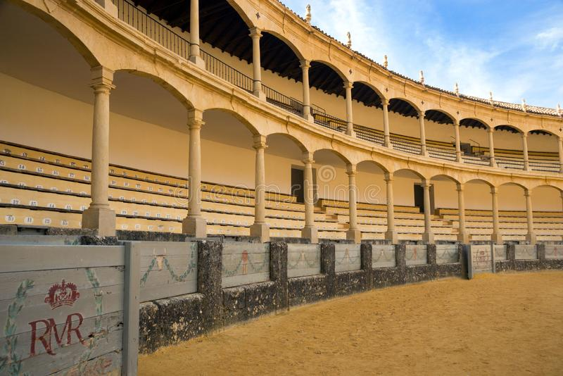 The largest and most famous Spanish bullring is the Plaza de Toros. Homeland of Spanish bullfighting.  royalty free stock photography