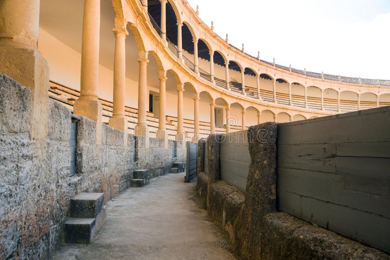 The largest and most famous Spanish bullring is the Plaza de Toros. Homeland of Spanish bullfighting.  royalty free stock photo