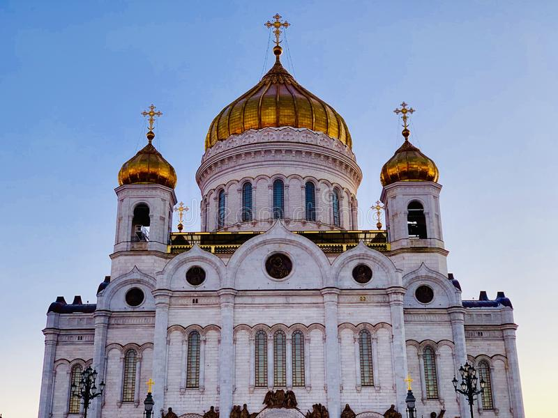 Moscow. Cathedral of Christ the Saviour. royalty free stock photos