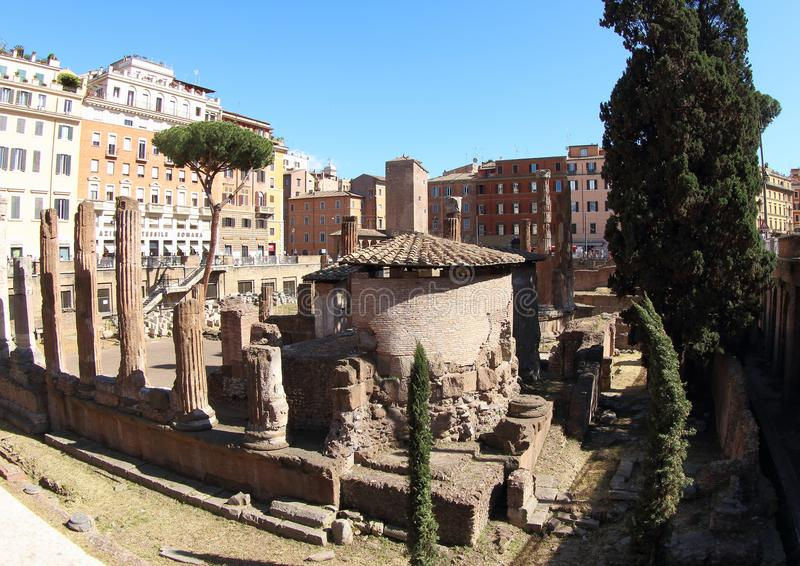 Largi di Torre Аргентина, Рим стоковая фотография rf