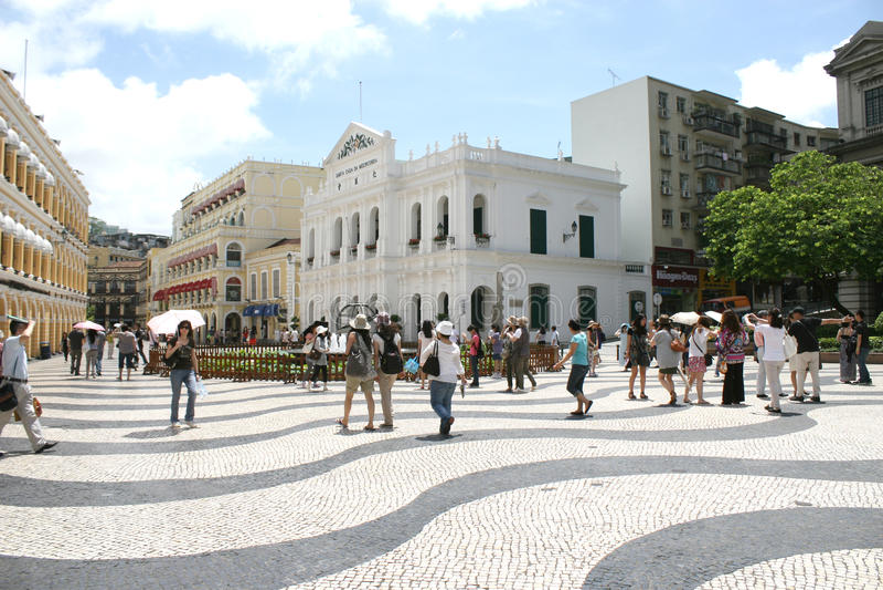 Largo делает архитектуру города Макао senado стоковое изображение rf