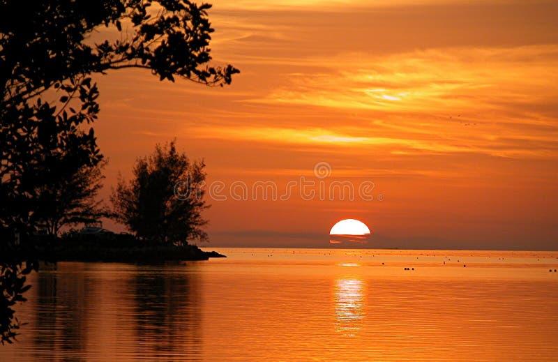 Largo chiave Florida di tramonto fotografie stock libere da diritti