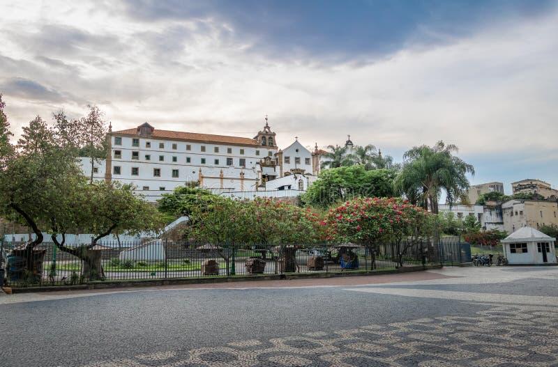 Largo da Carioca e Sao Francisco da Penitencia Church e Santo Antonio Convent - Rio de janeiro, Brasil imagem de stock