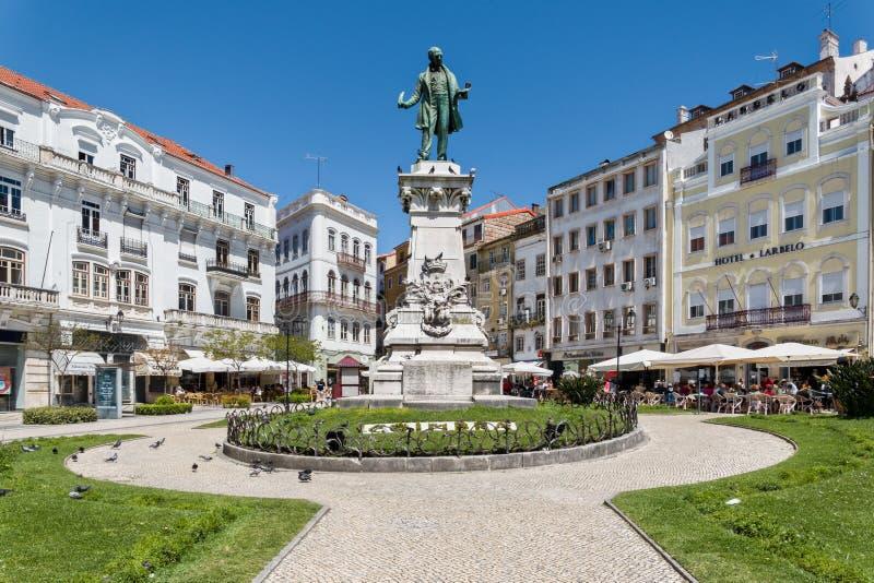 Largo da Portagem Coimbra Portugal royalty-vrije stock foto's