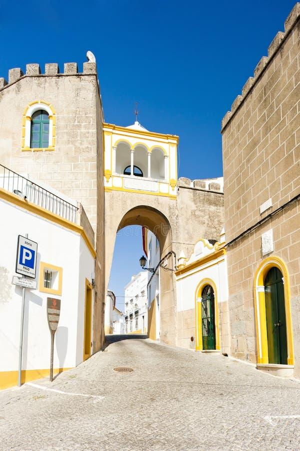 Largo de Santa Clara, Elvas, Alentejo, Portugalia obraz royalty free