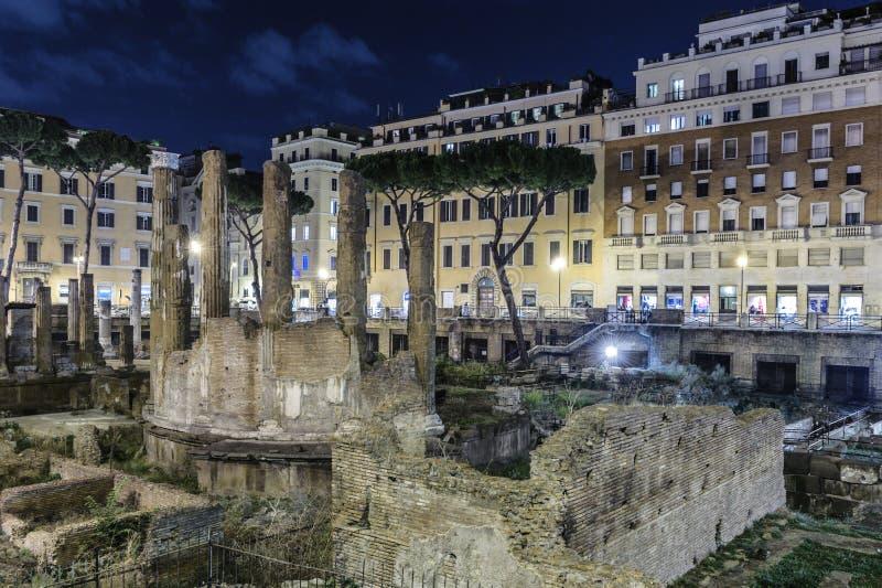 Largo di Torre Argentina, Roma fotografia stock