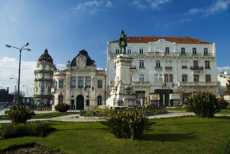 Largo do Portagem, Coimbra, Portugal royalty-vrije stock foto's