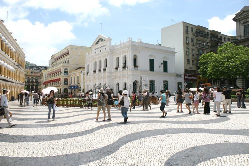 Largo gör arkitektur för den senadomacau staden royaltyfri bild