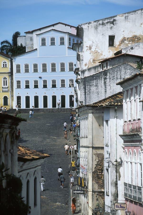 Largo gör Pelourinho, Salvador, Brasilien royaltyfri fotografi