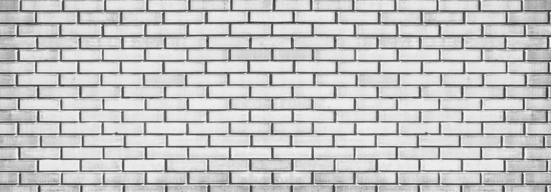Largo ilumine - a textura cinzenta da parede de tijolo Fundo panorâmico Whitewashed fotos de stock royalty free