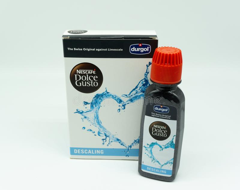 Durgol Coffee Machine Cleaner in Recyclable Plastic Bottle & Ext royalty free stock photos