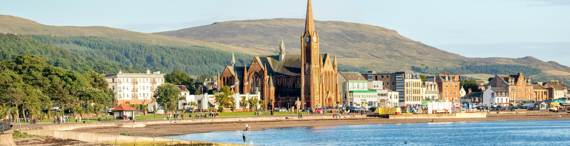 Largs - Skottland royaltyfri fotografi