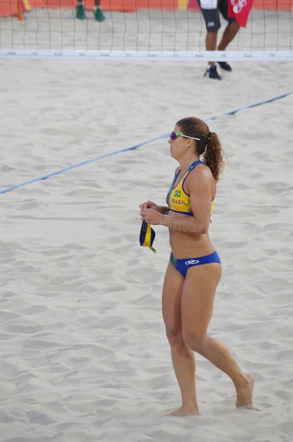 Larissa Franca Бразилии на Rio2016 стоковая фотография