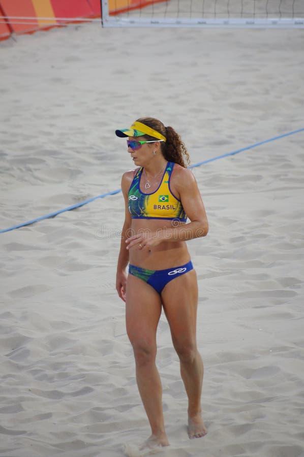 Larissa Franca del Brasil en Rio2016 fotos de archivo