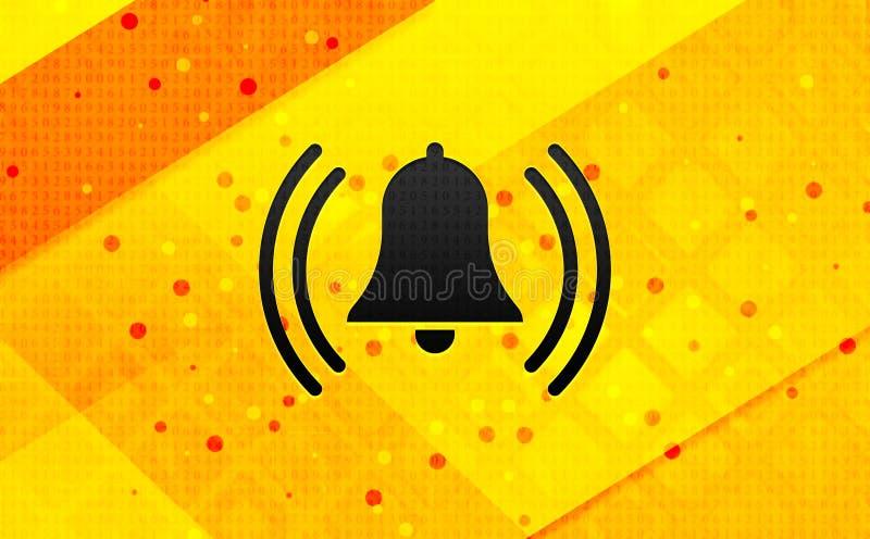 Larm som ringer bakgrund för abstrakt digitalt baner för klockasymbol gul royaltyfri illustrationer