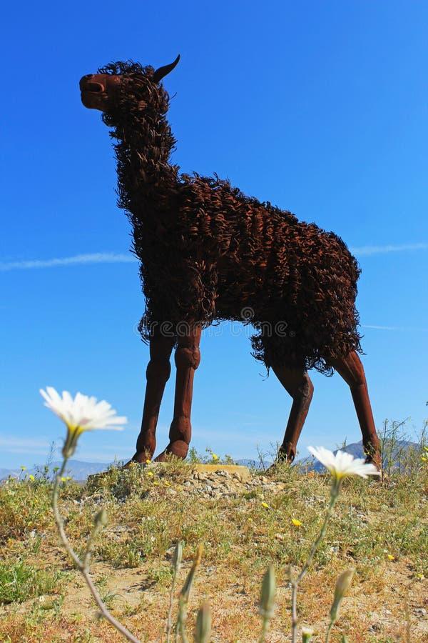 Larmabeeldhouwwerk, het Park van de de Woestijnstaat van Anza Borrego, Californië royalty-vrije stock afbeeldingen