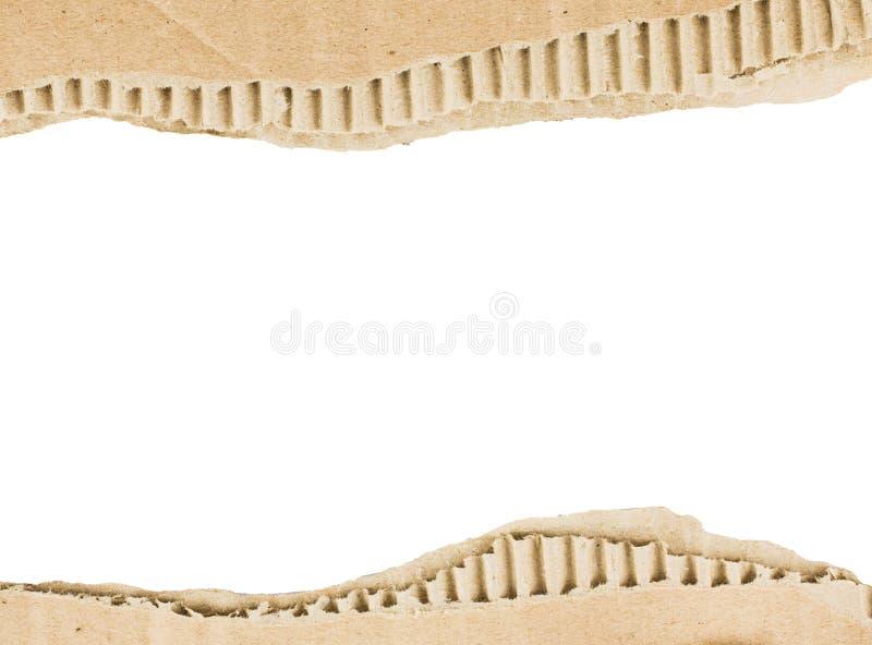 Larme de papier de Brown comme cadre image stock
