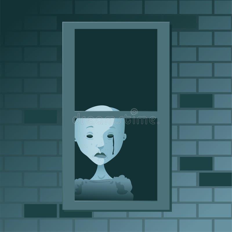 Larme fantomatique illustration de vecteur