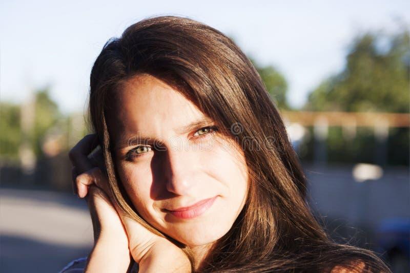 Larmes d'une jeune femme photos stock