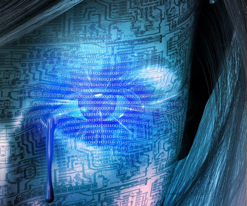 Larmes de cyborg illustration stock