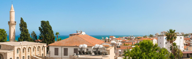 Larnaca cyprus Vecchia città fotografia stock