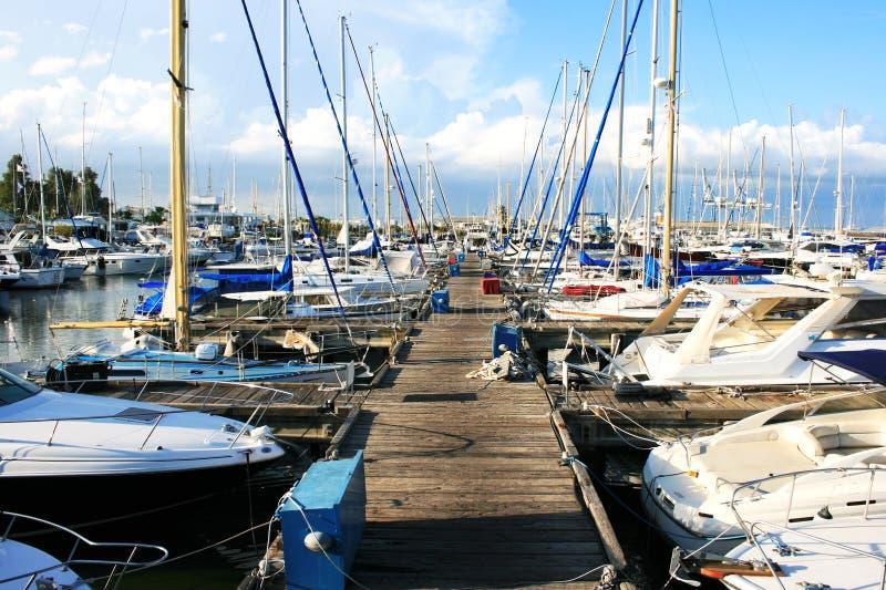 Larnaca port royalty free stock photography