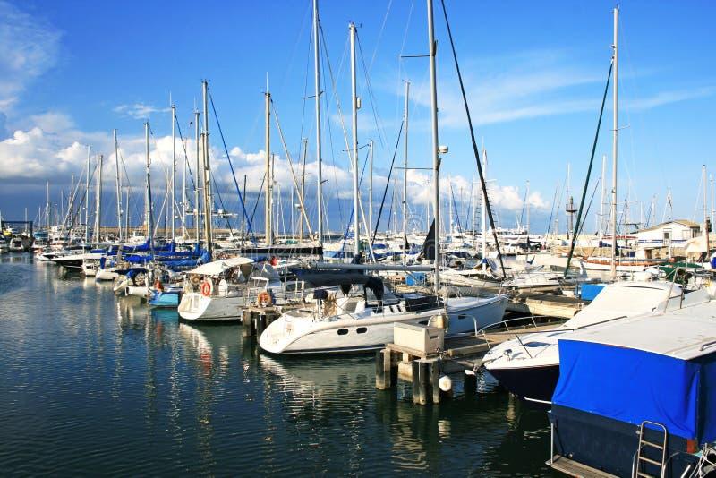 Larnaca port royalty free stock photos