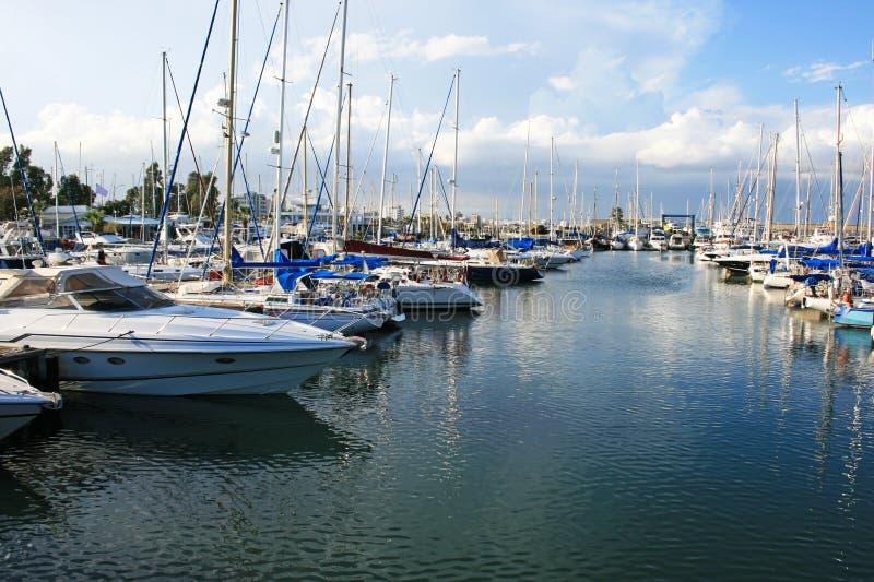 Larnaca port stock images