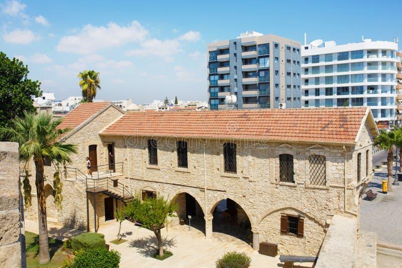 Larnaka Średniowieczny kasztel (fort) obraz royalty free