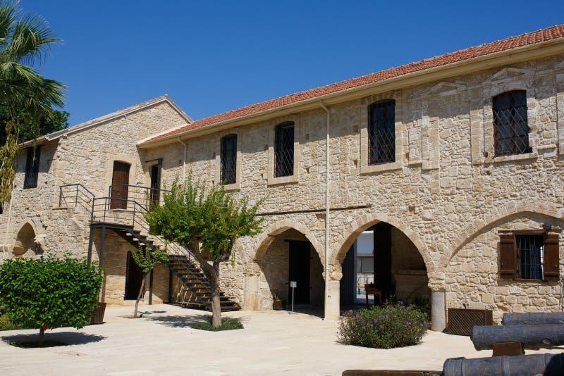 Larnaka Średniowieczny kasztel (fort) zdjęcia stock