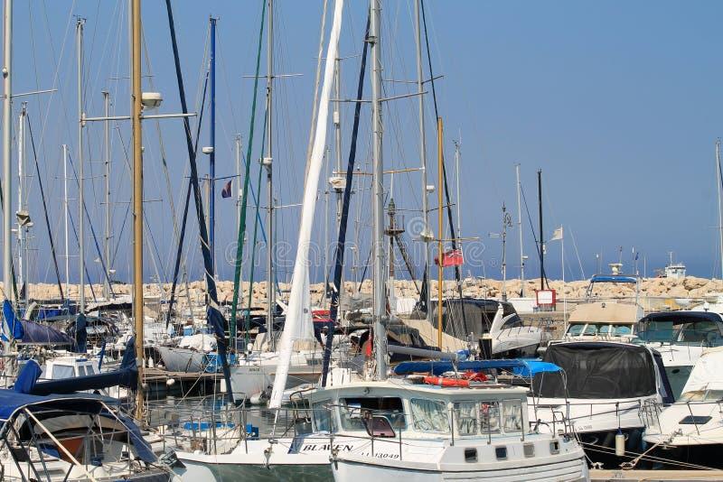 Larnaka-Jachthafen lizenzfreie stockfotos