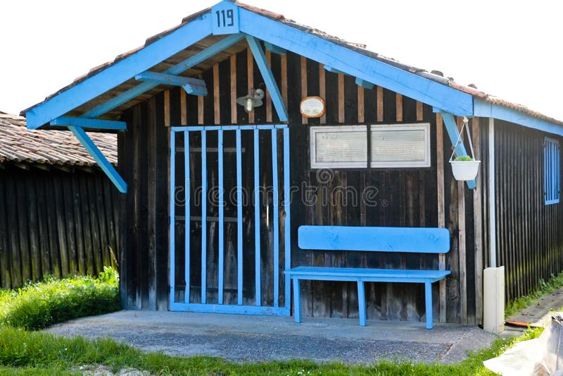 Larros港的渔村  库存图片