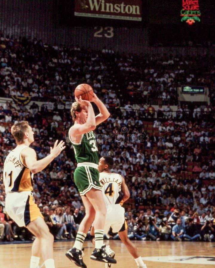 Larry Bird Boston Celtics. Larry Bird, Hall of Fame forward #33. Image taken from color slide royalty free stock photos