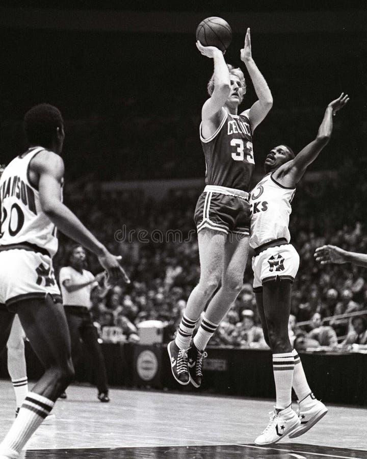 Larry Bird Boston Celtics Legend. Boston Celtics legend and Hall of Famer Larry Bird #33. (Image taken from color slide royalty free stock image