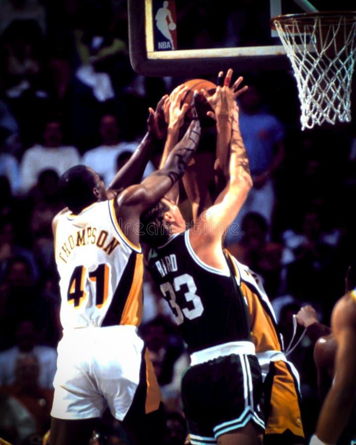 Larry Bird, Boston Celtics. Boston Celtics legend Larry Bird. (Image from a color slide stock image