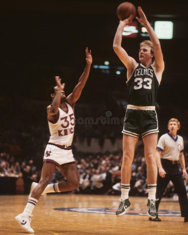 Larry Bird. Boston Celtics star Larry Bird, #33. (Image taken from color slide stock images