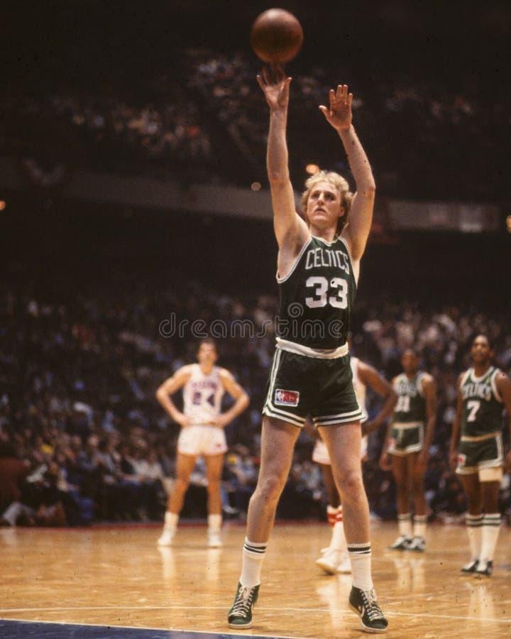 Larry Bird, Boston Celtics. Vintage Boston Celtics image of legend Larry Bird. (Image from color slide stock photography