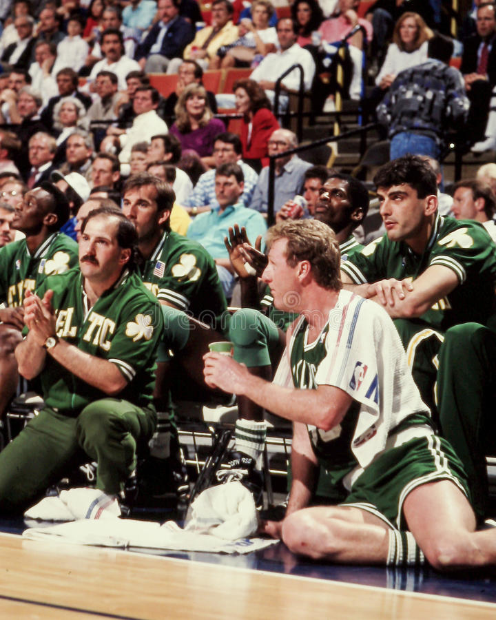 Larry Bird, Celtics de Boston image libre de droits