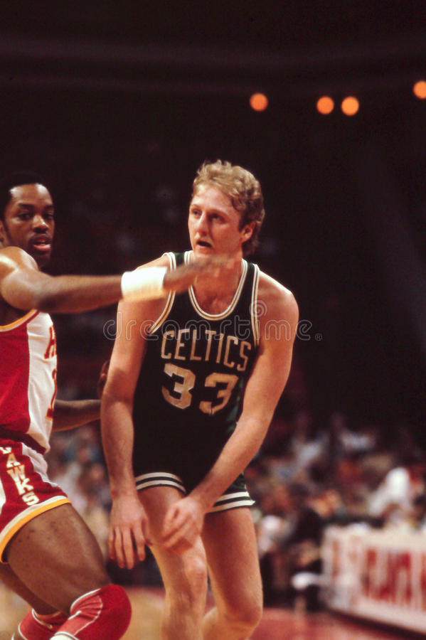 Larry Bird, Celtics de Boston images libres de droits