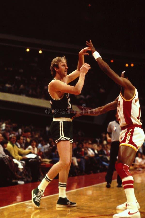Larry Bird, Celtics de Boston imagenes de archivo