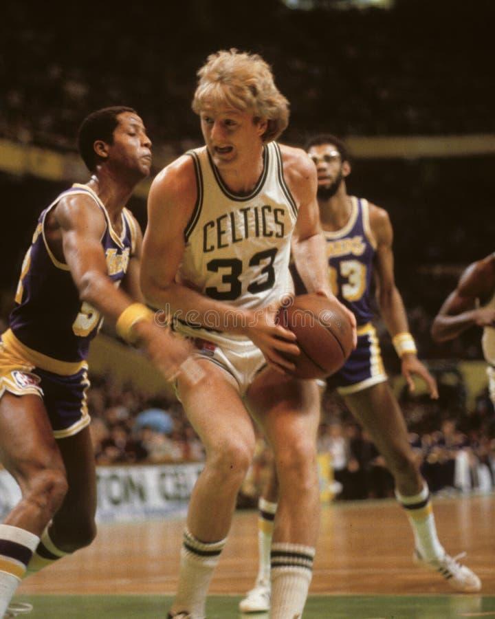 Larry Bird, Celtics de Boston imágenes de archivo libres de regalías