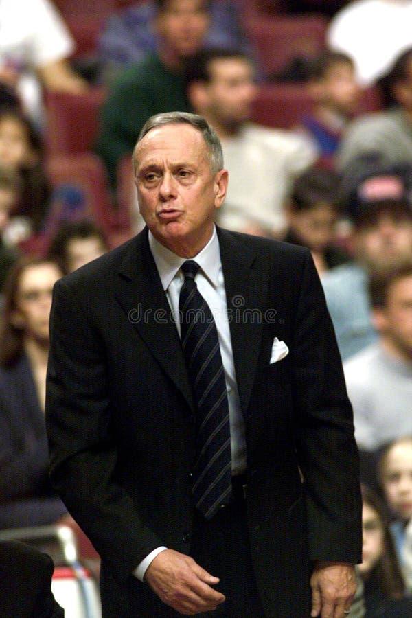 Larry Brown. Coach Philadelphia 76ers. 2000-01 season stock image