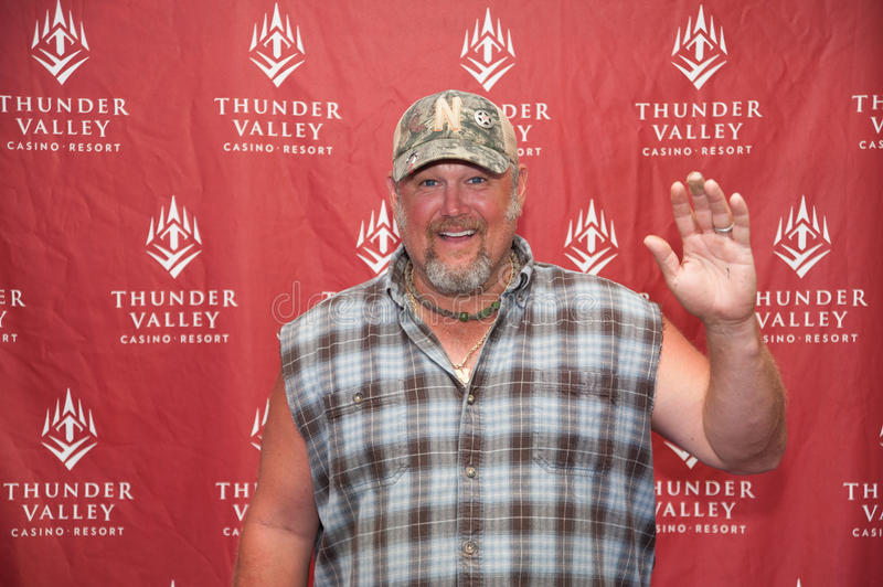 Larry the Cable Guy. LINCOLN, CA - July 18: Larry the Cable Guy poses for meent and greet photos at Thunder Valley Casino Resort in Lincoln, California on July royalty free stock photography