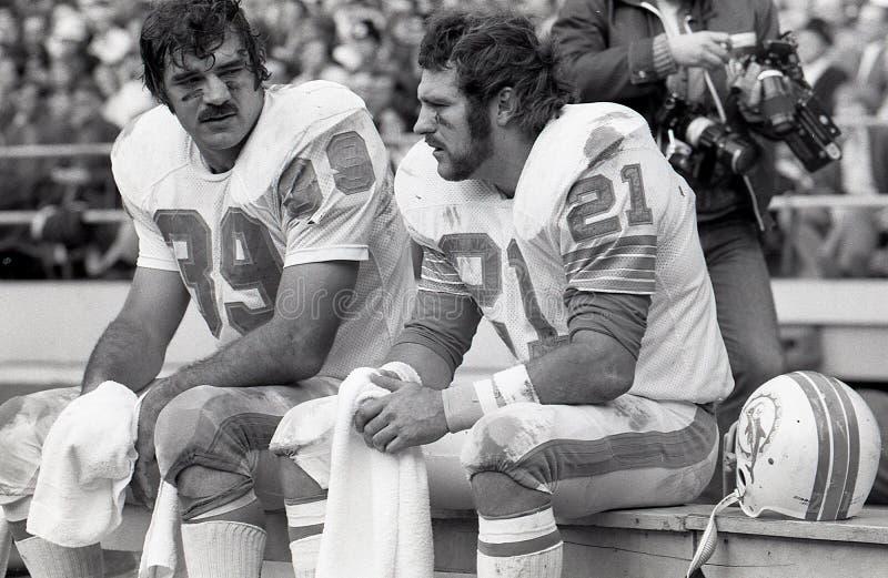 Larry Csonka und Jim Kiick, Miami Dolphins lizenzfreies stockbild