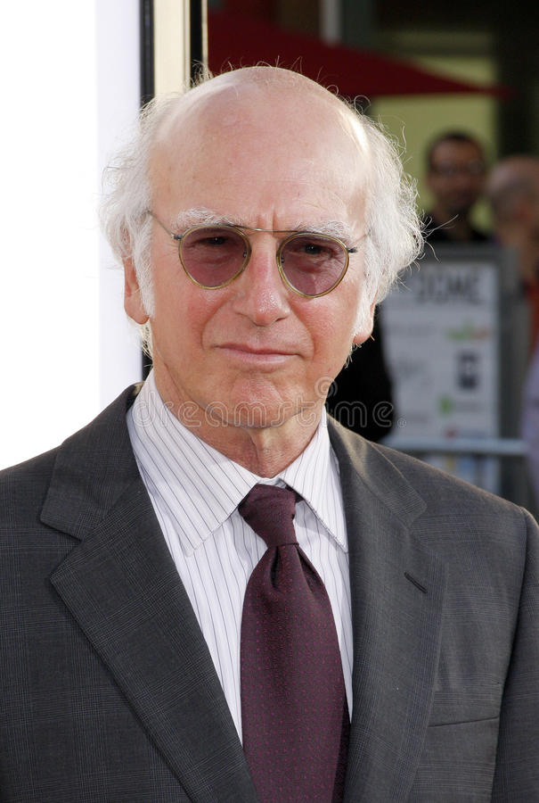 Larry David. At the HBO's 'Entourage' season 6 premiere held at the Paramount Studios Lot in Hollywood on July 9, 2009 stock image