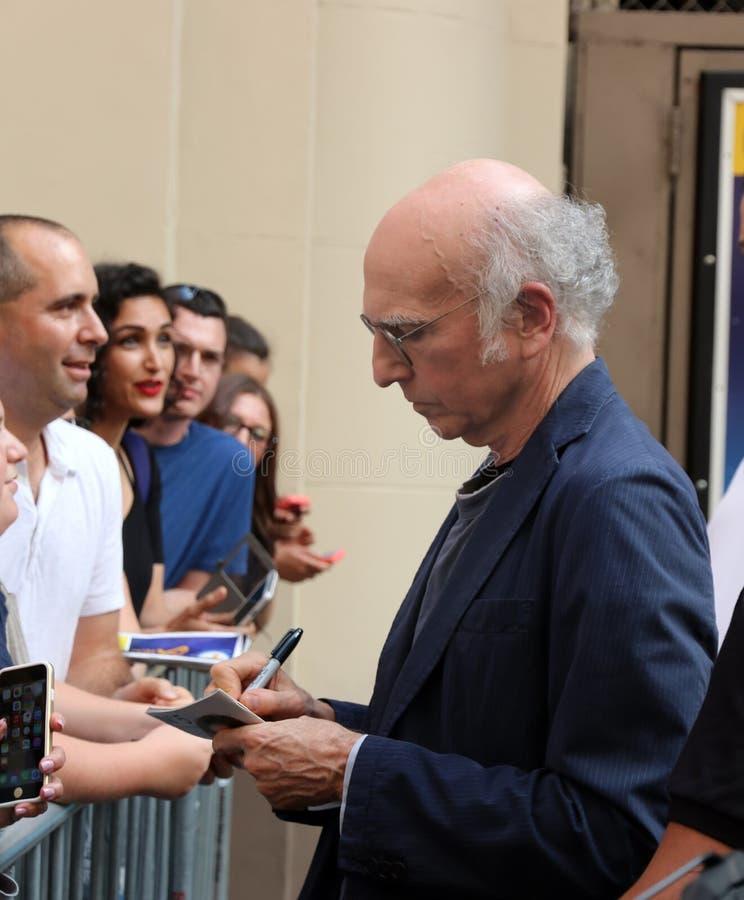 Larry David Signs une affiche image libre de droits